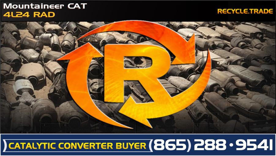 Mountaineer CAT 4L24 RAD Scrap Catalytic Converter