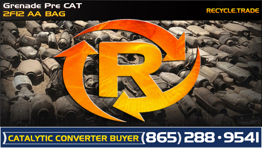 Grenade Pre CAT 2F12 AA BAG Scrap Catalytic Converter