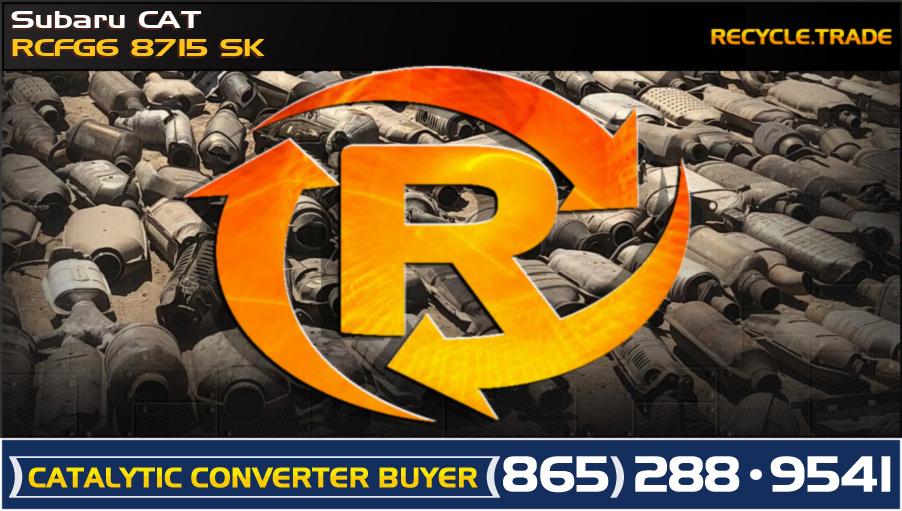 Subaru CAT RCFG6 8715 SK Scrap Catalytic Converter